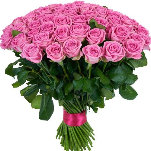 Купить на заказ Букет из 101 розовой розы с доставкой в Лисаковске