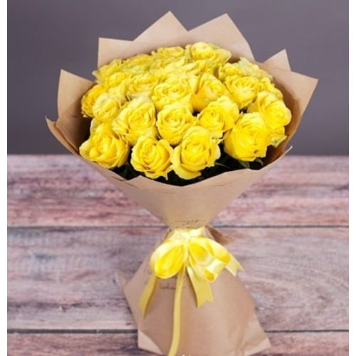 Купить на заказ Букет из желтых роз с доставкой в Лисаковске